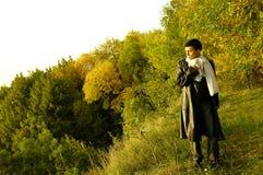 Mens in land Royalty-vrije Stock Foto's