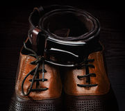 Mens leather shoes Stock Photo