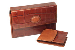 Mens leather wallet Stock Photo