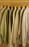 Mens light colored dress shirts Royalty Free Stock Image