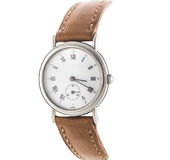 Mens luxury wrist watch on white Royalty Free Stock Images