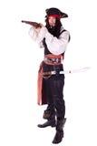Mens in Maskerade. piraat Stock Foto