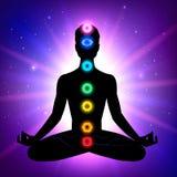 Mens meditatie vector illustratie