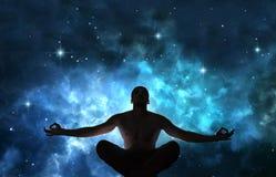 Mens in meditatie royalty-vrije stock afbeelding