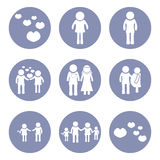 Mens of mensenpictogrampictogram, voor ontwerppresentatie binnen Stock Foto