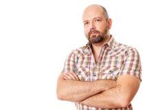 Mens met baard Stock Fotografie