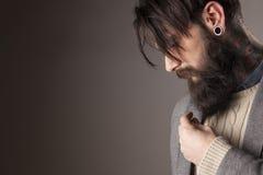 Mens met baard Royalty-vrije Stock Afbeeldingen
