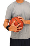 Mens met basketbal - torso Stock Afbeelding