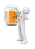 Mens met bier Royalty-vrije Stock Afbeelding