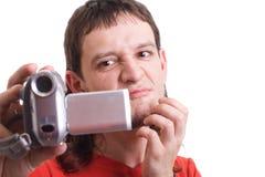Mens met camera Royalty-vrije Stock Afbeeldingen