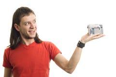 Mens met camera Royalty-vrije Stock Fotografie