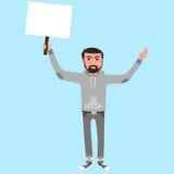 Mens met document Stock Illustratie