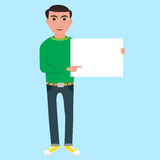 Mens met document Royalty-vrije Illustratie
