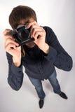 Mens met een camera Stock Foto