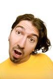 Mens met een grappig gezicht Stock Afbeelding
