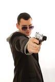 Mens met een kanon Stock Fotografie