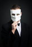 Mens met een masker Royalty-vrije Stock Foto's