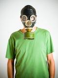 Mens met gasmasker Stock Afbeeldingen