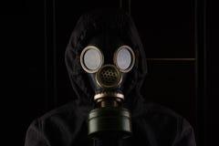 Mens met gasmasker Stock Foto's