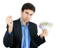Mens met geld Stock Foto