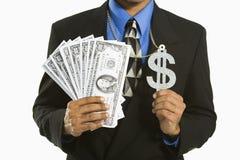 Mens met geld. Royalty-vrije Stock Afbeeldingen