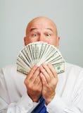 Mens met geld Royalty-vrije Stock Fotografie