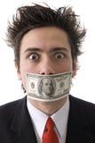 Mens met geld Royalty-vrije Stock Foto