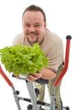 Mens met gezonde levensstijlkeuzen Stock Afbeelding
