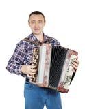 Mens met harmonika royalty-vrije stock afbeeldingen
