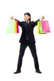 Mens met het winkelen zakken Stock Afbeeldingen