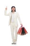 Mens met het winkelen zakken Royalty-vrije Stock Fotografie