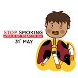 Mens met het zieke longeneinde roken Royalty-vrije Stock Foto's