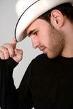 Mens met hoed Stock Afbeelding