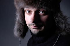 Mens met hoed IV Stock Afbeeldingen
