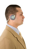 Mens met hoofdtelefoons Royalty-vrije Stock Foto