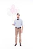 Mens met luchtballons Royalty-vrije Stock Afbeelding