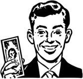 Mens met Miljard Dollarsrekening royalty-vrije illustratie
