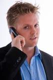 Mens met mobiele telefoon royalty-vrije stock afbeelding