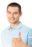 Mens met omhoog duimen Royalty-vrije Stock Afbeelding