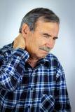 Mens met oorpijn Royalty-vrije Stock Foto