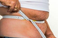 Mens met overgewicht Stock Fotografie
