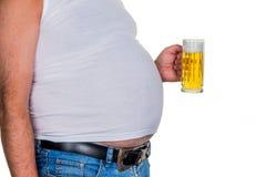 Mens met overgewicht Stock Foto's