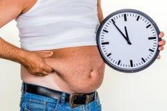 Mens met overgewicht Stock Afbeelding