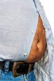 Mens met overgewicht Royalty-vrije Stock Afbeeldingen