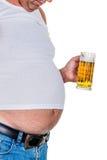 Mens met overgewicht Royalty-vrije Stock Afbeelding