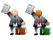 Mens met Samenvatting en Aktentas stock illustratie