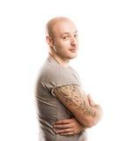 Mens met tatoegering royalty-vrije stock afbeeldingen