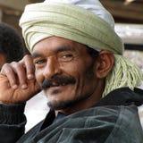 Mens met tulband Royalty-vrije Stock Fotografie