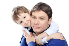 Mens met zoon Stock Afbeeldingen