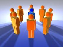 Mens in Midden 1 stock illustratie